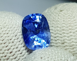 CERTIFIED 2.09 CTS NATURAL STUNNING CORNFLOWER BLUE SAPPHIRE SRI LANKA