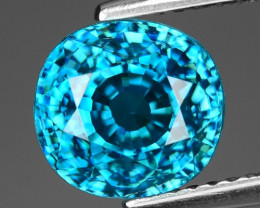 5.59 Cts Blue Zircon Exceptional Color ~ Cambodia ZS10