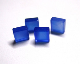 5.56tcw Blue Chalcedony Matching Square Discs