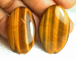 81.5 Tcw. Best China Tiger Eye Cabochons - Gorgeous