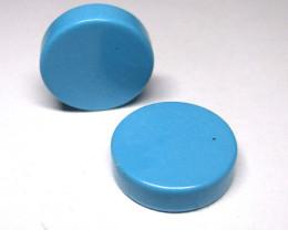 7.98tcw Turquoise Matching Round Discs
