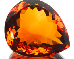 10.00 Cts Natural Top Madeira Orange Citrine Pear Cut Brazil