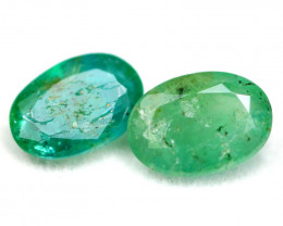 Emerald 2.95Ct Natural Zambian Imperial Green Emerald Pair A2102