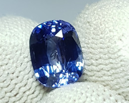 CERTIFIED 2.54 CTS NATURAL STUNNING CORNFLOWER BLUE SAPPHIRE SRI LANKA
