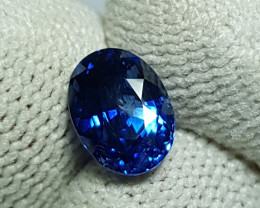 CERTIFIED 2.16 CTS NATURAL STUNNING ROYAL BLUE SAPPHIRE SRI LANKA