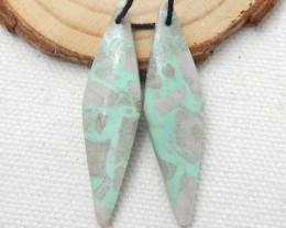 New, Turquoise earrings beads, stone for earrings making H8896