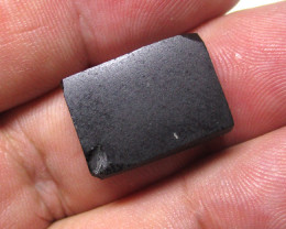 16.69cts Natural Black Spinel Slab
