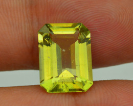 Rare 4.76 ct Amazing Luster Lemon Green Apatite SKU.4