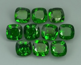 16.15 Cts Eye Catching Natural Rich Green Chrome Diopside Cushion Pair