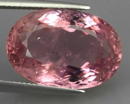 20.50 Cts Attractive Natural sweet pink Tourmaline Gemstone Oval Mozambique