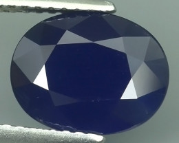 CERTIFIED 3.681 CTS AWESOME BLUE SAPPHIRE HEATED FACETED GENUINE OVAL