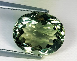 7.34 ct Top Quality  Gem Awesome Oval Cut Green Amethyst