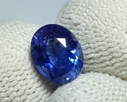 CERTIFIED 2.08 CTS NATURAL BEAUTIFUL CORNFLOWER BLUE SAPPHIRE SRI LANKA