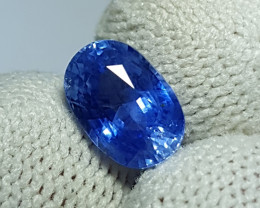 CERTIFIED 2.20 CTS NATURAL BEAUTIFUL CORNFLOWER BLUE SAPPHIRE SRI LANKA