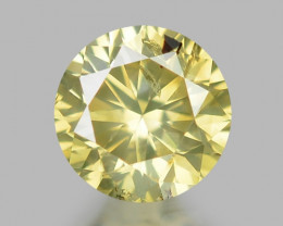 0.19 UNTREATED FANCY GREENISH YELLOW NATURAL LOOSE DIAMOND