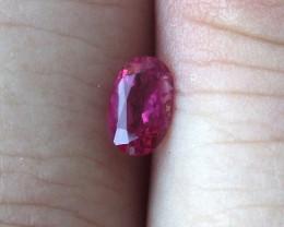 0.37cts Natural Pink Tourmaline Oval Cut