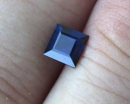 0.76cts Natural Australian Blue Sapphire Square Cut
