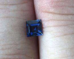0.59cts Natural Australian Blue Sapphire Square Cut