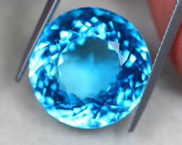 23.28ct Swiss Blue Topaz Round Cut Lot GW4622