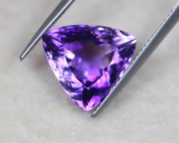 6.87ct Natural Purple Amethyst Trillion Cut Lot GW5562