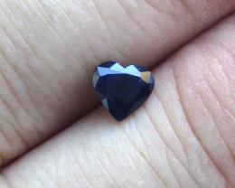 0.97cts Natural Australian Blue Sapphire  Heart Shape