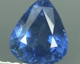 CERTIFIED IGL 1.260 CTS NATURAL BEAUTIFUL BLUE MADAGASCAR SAPPHIRE PEAR~