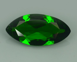 2.10 CTS NATURAL ULTRA RARE CHROME GREEN DIOPSIDE MARQUISE SHAPE RUSSIA