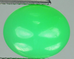 4.54 Cts Beautiful Natural Chrysoprase Oval Cabochon Brazil Gem
