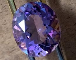 Superbly toned Uruguay Amethyst VVS 4.45cts Pink Purple NR