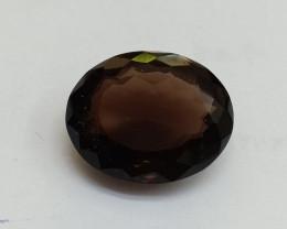 18x15mm Smoky Quartz Natural Untreated Faceted Gemstone VAF267