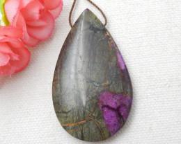 74ct Natural Water Drop African Purple Jasper Pendant E249