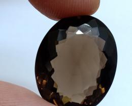 22x18mm Smoky Quartz Natural Untreated Faceted Gemstone VAF277