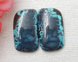 23.5ct Hot Sale Natural Turquoise Cabochon Pair E253