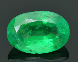 2.14 ct Zambian Emerald Vivid Green Color SKU-30