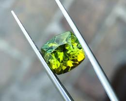 3.55 Ct Natural Greenish Yellow Transparent Tourmaline Gemstones