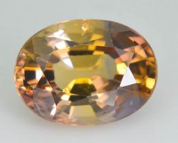 Bi Color Tanzanite 1.42 ct  Orange Zoisite Hard to Find in this color SKU.1