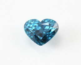 6.42ct. Lab Certified Natural Blue Zircon