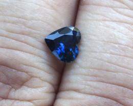0.98cts Natural Australian Blue Sapphire  Heart Shape