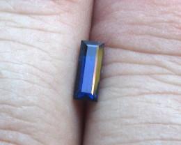 0.56cts Natural Australian Blue Sapphire Baguette Cut