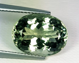 7.20 ct Top Quality  Gem Awesome Oval Cut Green Amethyst