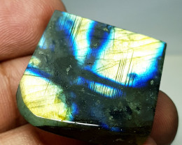 35.30 ct Natural Labradorite Sliced Fancy Cut  Gemstone
