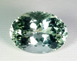 13.24 ct Top Quality  Gem Awesome Square Cut Green Amethyst