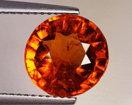 4.79 ct Top Quality Gem Round Cut Top Luster Hessonite Garnet