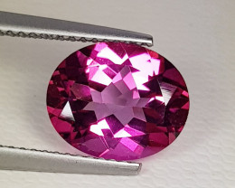 3.85 ct Breathtaking Gem Stunning Oval Cut Natural Pink Topaz
