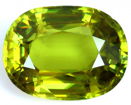 3.90 CTS EXTRME LUSTER RARE NATURAL MULTI GREENISH-YELLOW SPHENE GEM!!