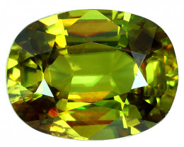 2.43 Cts SPARKLING NATURAL ULTRA RARE MULTI TOP GREEN COLOR  SPHENE