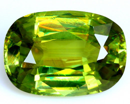 3.00 Cts:Lustrous Vivid Greeni Hue Natural Sphene!!