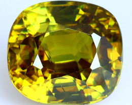 3.25 Cts SPARKLING NATURAL ULTRA RARE MULTI TOP GREEN COLOR  SPHENE