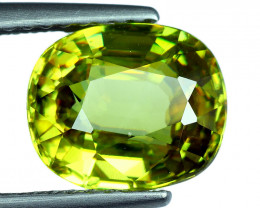 2.45 Cts EXTRME LUSTER RARE NATURAL MULTI GREEN SPHENE GEM!!