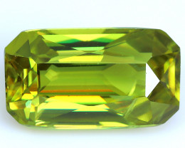 2.25 Cts:Lustrous Vivid Green Hue Natural Sphene!!